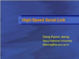 High-Speed Serial Link