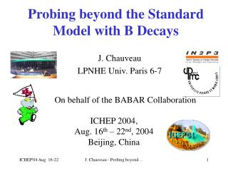 Probing beyond the Standard Model with B Decays