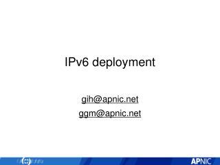 IPv6 deployment