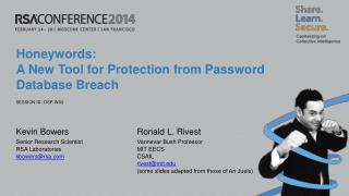 Honeywords:  A New Tool for Protection from Password Database Breach