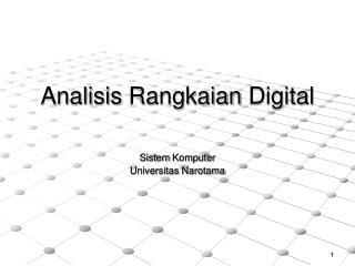 Analisis Rangkaian Digital