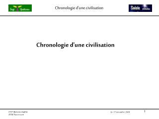 Chronologie d'une civilisation