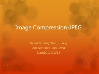 Image Compression-JPEG
