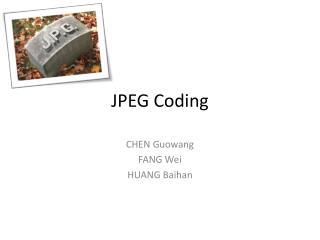 JPEG Coding