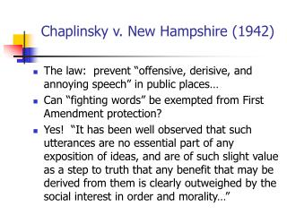 Chaplinsky v. New Hampshire (1942)
