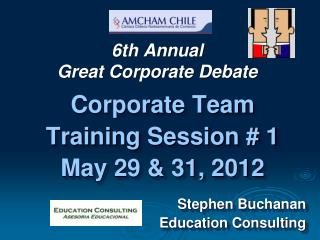 6th Annual Great Corporate Debate