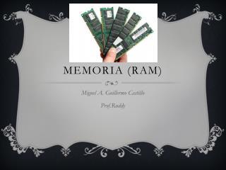 Memoria (RAM)