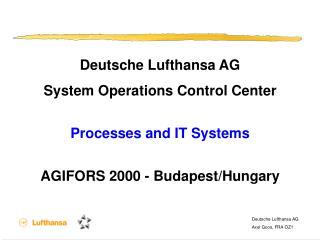 Deutsche Lufthansa AG Axel Goos, FRA OZ1/E 15. Oktober 1998