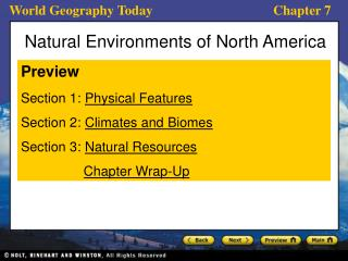 Natural Environments of North America