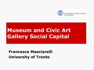 Museum and Civic Art Gallery Social Capital