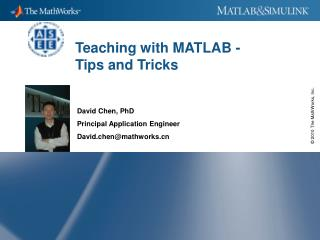 Teaching with MATLAB - Tips and Tricks