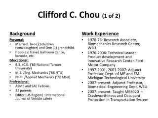 Clifford C. Chou  (1 of 2)
