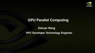 GPU Parallel Computing