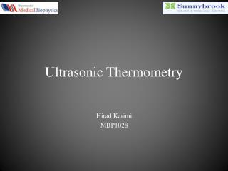 Ultrasonic Thermometry