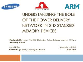 Understanding the role of the Power delivery network in 3-d stacked memory devices