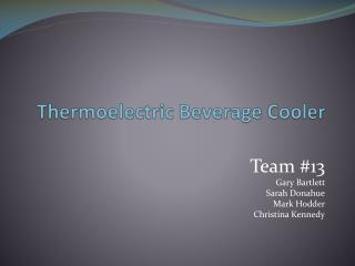 Thermoelectric Beverage Cooler
