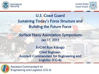 U.S. Coast Guard Sustaining Today's Force Structure and  Building the Future Force