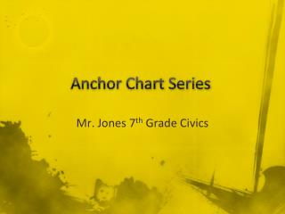 Anchor Chart Series