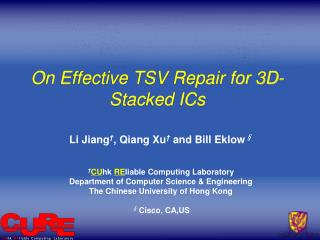 On Effective TSV Repair for 3D-Stacked ICs
