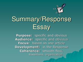 Summary/Response Essay