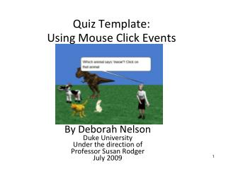 Quiz Template:  Using Mouse Click Events