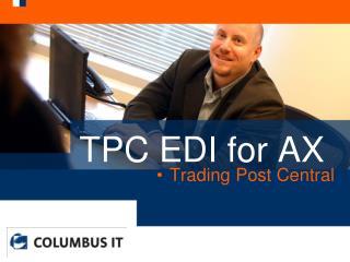 TPC EDI for AX
