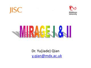 Dr. Yu(Jade) Qian y.qian@mdx.ac.uk