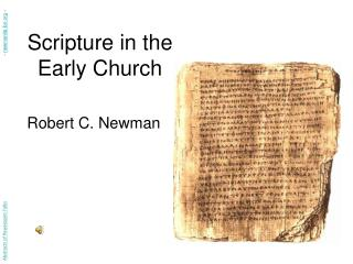 Scripture in the Early Church