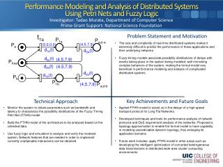 Performance Modeling and Analysis of Distributed Systems  Using Petri Nets and Fuzzy Logic