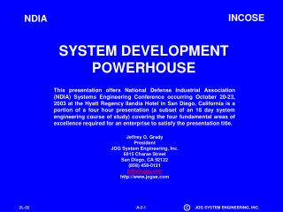 SYSTEM DEVELOPMENT POWERHOUSE