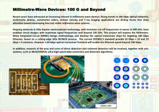 Millimetre-Wave Devices: 100 G and Beyond