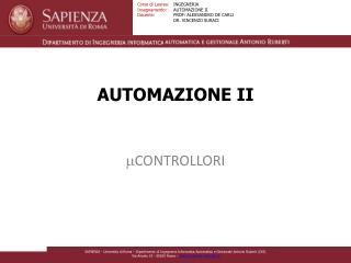 AUTOMAZIONE II