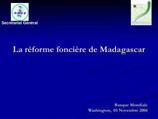 Banque Mondiale  Washington,  03 Novembre 2006
