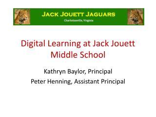 Digital Learning at Jack Jouett Middle School