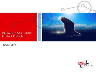 RADWIN 3.5/3.65GHz  Product Portfolio