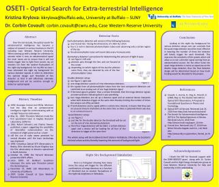 OSETI - Optical Search for Extra-terrestrial Intelligence
