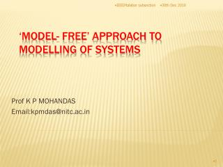 'MODEL- FREE' APPROACH TO MODELLING OF SYSTEMS