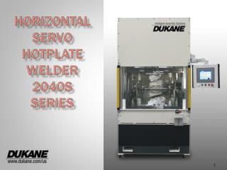 Horizontal Servo Hotplate Welder 2040S Series