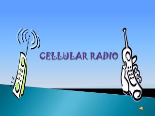 CELLULAR RADIO