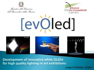 Development of innovative  white OLEDs  for high  quality lighting  in art  exhibitions