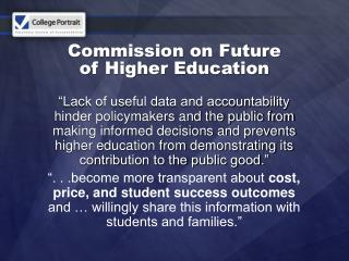 Commission on Future of Higher Education