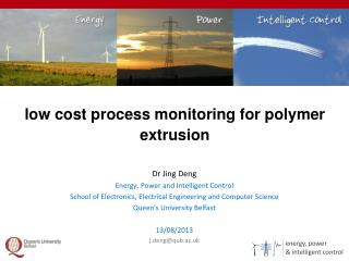 low cost process monitoring for polymer extrusion