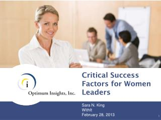 Critical Success Factors for Women Leaders