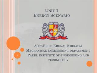 Unit 1 Energy  Scenario