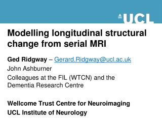 Modelling longitudinal structural change from serial MRI