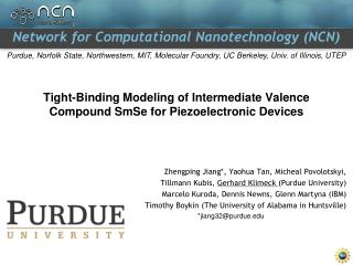 Tight-Binding Modeling of Intermediate Valence Compound SmSe for Piezoelectronic Devices