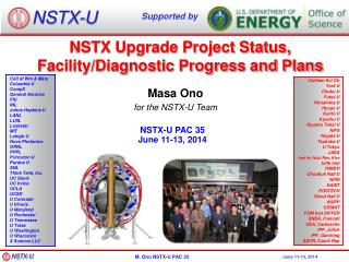 Masa Ono for the NSTX-U Team