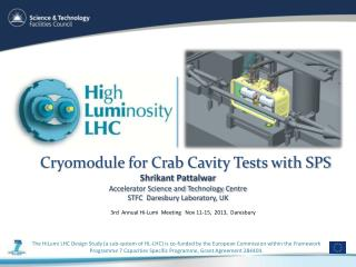Cryomodule for Crab Cavity Tests with SPS
