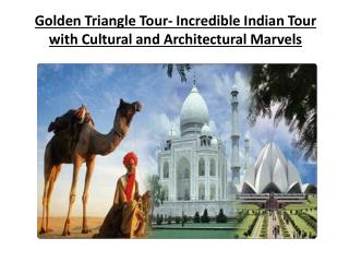 Golden Triangle Tour- Incredible Indian Tour with Cultural a