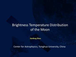 Brightness  Temperature Distribution  of  the  Moon